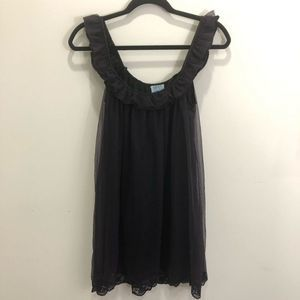 Intimately Free People Black Lace Babydoll Dress